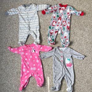 Carter's 3 Month Fleece PJ's bundle